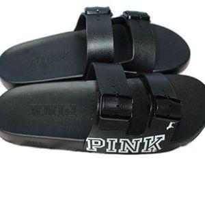 Victoria's Secret Pink Double Strap Buckle Slides
